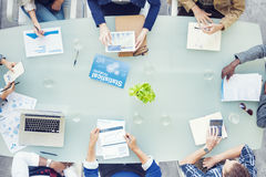 Group of Business People in a Meeting Royalty Free Stock Image