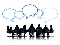 Group of Business People in Meeting Royalty Free Stock Photo