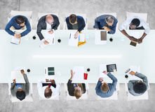 Group of Business People in Meeting Stock Photo