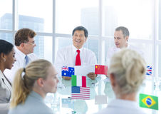 Group of Business People Meeting Royalty Free Stock Photos