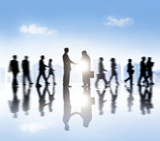 Group of Business People Meeting in the City Stock Image