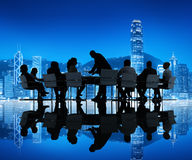 Group of Business People Meeting in the City Royalty Free Stock Image