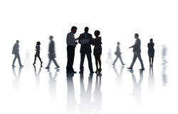 Group Business People Meeting Discussing Concept. Group of Business Meeting People Concept Stock Image