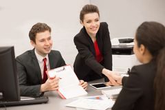 Group of Business People in Meeting royalty free stock image