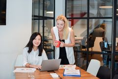 Group of business people meeting in a meeting room, sharing thei. R ideas, Multi ethnics Stock Image