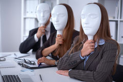 Group of business people at a meeting. Negative concept, Lack of understanding, lack of agreement Stock Photos