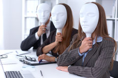 Group of business people at a meeting. Negative concept, Lack of understanding, lack of agreement.  Stock Photography