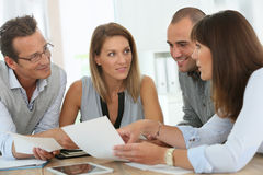 Group of business people in meeting Stock Photography