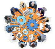 Group of Business People in Meeting Photo and Illustration.  stock image