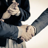 Group of business people meeting shaking hands Royalty Free Stock Photos
