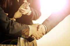 Group of business people meeting shaking hands Stock Photography