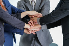 Group of business people meeting shaking hands together Royalty Free Stock Image