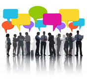Group of Business People Meeting and Sharing Ideas Royalty Free Stock Image