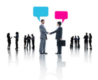 Group of Business People Meeting Speech Bubbles Stock Photos