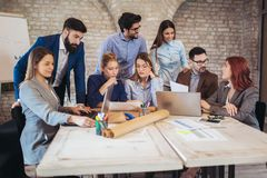 Business people meeting to discuss ideas in modern office royalty free stock images