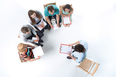 Group of Business People in a Meeting Stock Photography