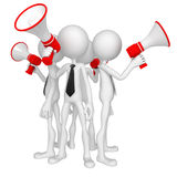 Group of business people with megaphone Stock Photo