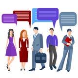 Group business people , men, women, girls Stock Photos