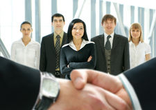 Group of business people in a modern office Stock Image