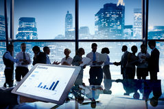 Group of Business People in New York City Stock Image
