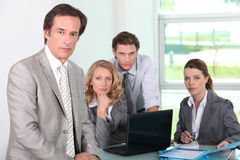 Group of business people in office Stock Photos