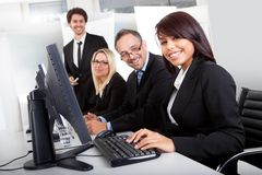 Group of business people in the office Royalty Free Stock Photography