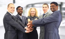 A group of business people in the office Stock Image