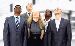 A group of business people in the office Royalty Free Stock Photos