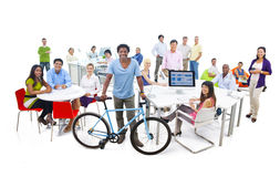 Group of Business People in the Office Stock Photography