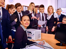 Group business people in office Stock Image