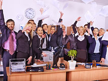 Group business people in office. Royalty Free Stock Image