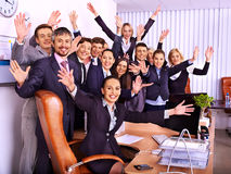 Group business people in office. Royalty Free Stock Photo