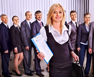 Group business people in office. Royalty Free Stock Images