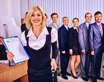 Group business people in office Royalty Free Stock Photography