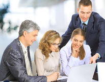Group of business people in office Royalty Free Stock Images