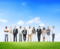 Group Of Business People Outdoors Royalty Free Stock Images