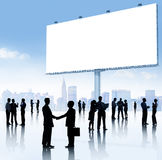 Group of Business People with Placard Stock Image