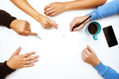 Group of Business People Planning for a New Project stock image
