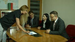 Group of business people planning work stock video footage