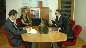 Group of business people planning work stock footage