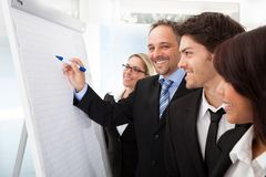 Group of business people at presentation Royalty Free Stock Image