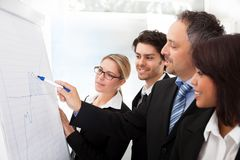 Group of business people at presentation Stock Photography