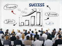 Group of Business People with  Presentation Concept.  Royalty Free Stock Photography