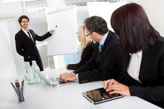 Group of business people at presentation Royalty Free Stock Photos
