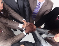 Group of business people putting their hands on top of each othe Royalty Free Stock Photo