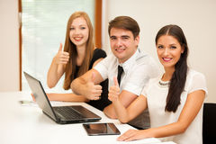 Group of Business people searching for solution with brainstormi Stock Photography