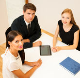 Group of Business people searching for solution with brainstormi Stock Photo