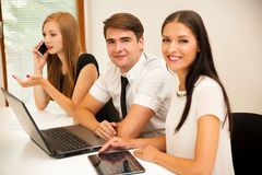 Group of Business people searching for solution with brainstormi Royalty Free Stock Images