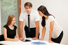 Group of Business people searching for solution with brainstormi Stock Images