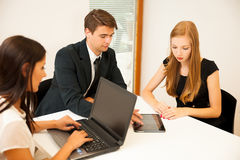 Group of Business people searching for solution with brainstormi Royalty Free Stock Photos